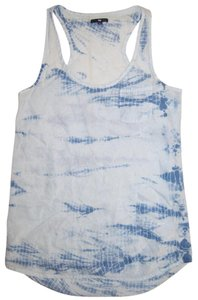 Gap Racer-back Tie Dye Silk Top Blue tie-dye