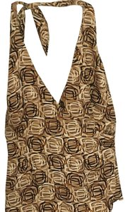 Laundry by Shelli Segal Halter Pattern Top Gold