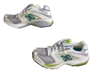 New Balance Sneakers White, Gray, Green Athletic