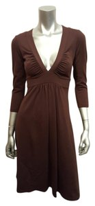 Susana Monaco short dress Brown Empire Waist 3/4 Sleeve Stretchy on Tradesy