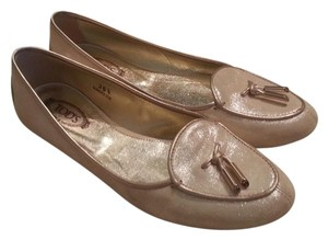 Tod's Driving 36 1/2 Gold Flats