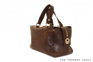 Kate Spade Leather Satchel in Brown
