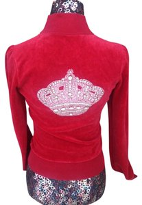Twisted Heart TWISTED HEART SWAROVSKI CROWN RED VELOUR JACKET SIZE S
