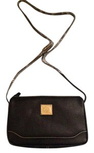 Wathne Color Pebble Leather Logo Plaque Storage Shoulder Bag