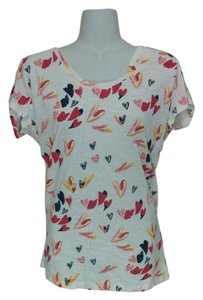 Style & Co Hearts Neck T Shirt White