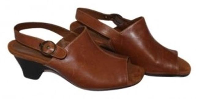 Item - Brown Leather Wedges Size US 10