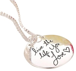 Silver Plated Live the Live You Love Necklace