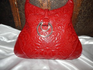 Sondra Roberts Handbag Patent Leather Shoulder Bag