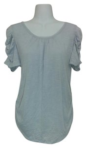 Style & Co Ruching Pleated Silver Top Gray