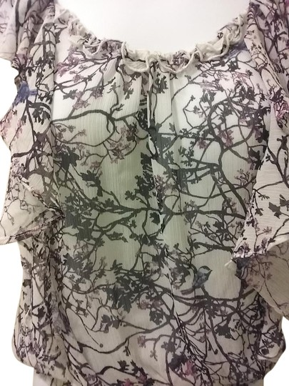 1937b9aaaa7e1a Express Sheer With Pink And Black Flower Print Top 50%OFF - sealtech.no