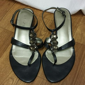 Unisa black, taupe stone Sandals