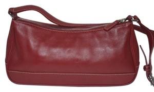 Coach Leather Maroon Shoulder Bag