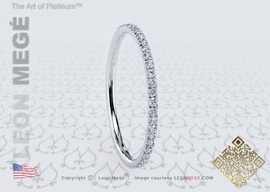 Leon Megé String Theory(tm) Diamond Band R4967 By Leon Mege