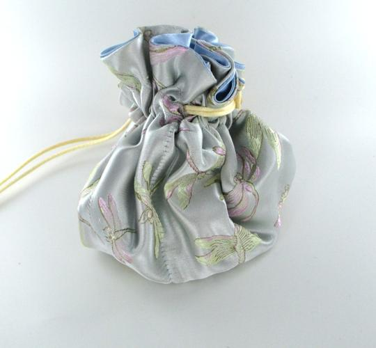 Cathayana CATHAYANA JEWELRY POUCH BROCADE POCKETS DRAWSTRING TRAVEL EMBROIDERED JEWELRY
