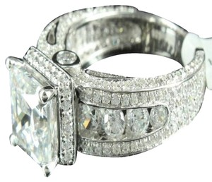 Womens Princess Cut Ring Wedding Design White Gold Finish Lab Diamond 925 Silver