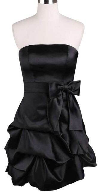 Preload https://img-static.tradesy.com/item/155821/black-strapless-satin-pickup-knee-length-formal-dress-size-8-m-0-0-650-650.jpg