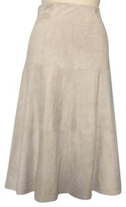 Theory Suede Ivory Skirt Beige