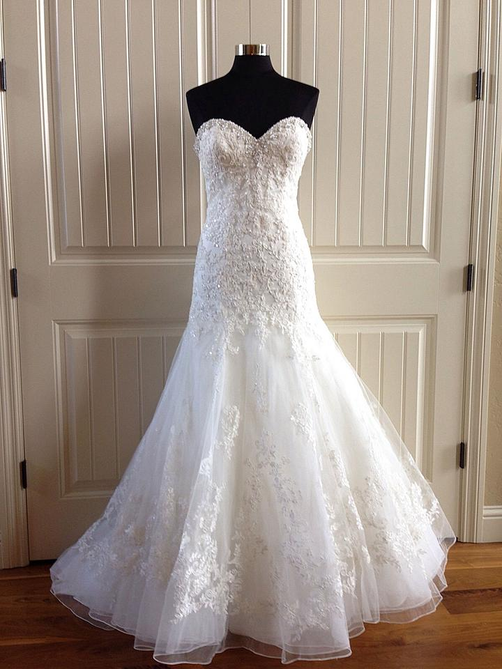 Private Label by G Ivory Alencon Lace Lv102 Feminine Wedding Dress ...