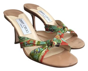 Jimmy Choo Green and Orange. Sandals