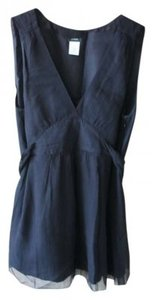 J.Crew Tie-back Sleeveless Blouse Top Black
