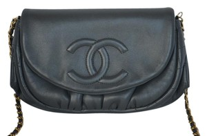 Chanel Lambskin Half Moon Woc Cross Body Bag