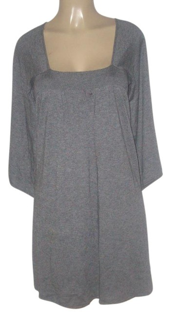 Item - Heather Grey L New Cashmere Blend Sweater Knee Length Work/Office Dress Size 12 (L)