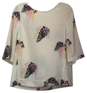 DKNY Top Beige pink black