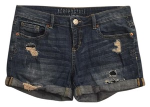 Aéropostale Cuffed Shorts dark denim