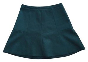 J.Crew Mini Skater Preppy Mini Skirt Forest Green