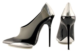 Balenciaga Black, Silver, Grey Platforms