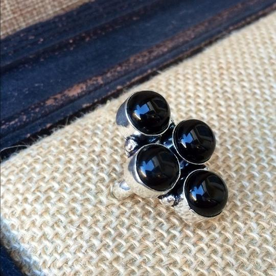 Handmade Black onyx sterling silver ring