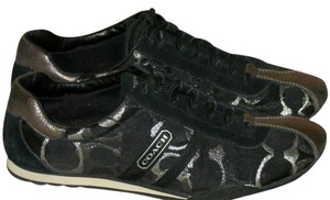 Coach Kate Sneakers Metallic Black and Silver Athletic