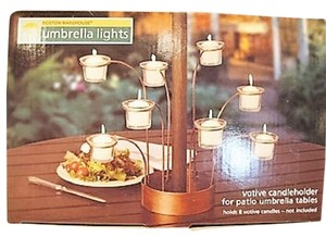 Other Umbrella Lights; Patio Umbrella Votive Candleholder - [ Roxanne Anjou Closet ]
