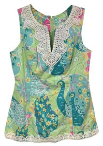 Lilly Pulitzer Top Green, Blue, Pink, Yellow, White