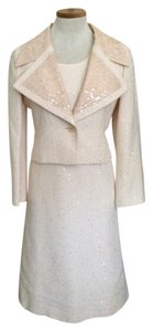 Chanel Chanel Champagne Tweed Sequined Dress Set