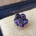 Other Purple quartz flower sterling silver ring Image 1
