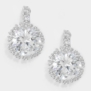 Elegant Rhinestone Crystal Link Earrings