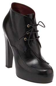 Chanel Ankle Lace-up New Black Boots