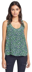 Joie Silk Racerback Neely Camp Summer Top Green