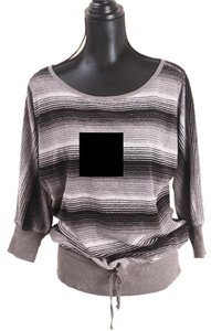 Juicy Couture Pullover Terry Striped Sweater
