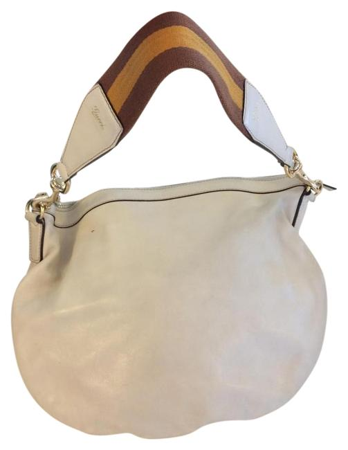 Item - Leatherhobo Cream Leather Hobo Bag