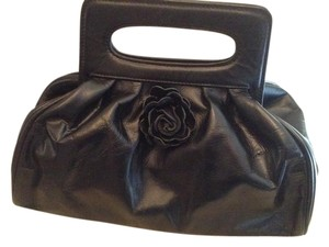 Tiffany & Fred Leather Flower Satchel in Black