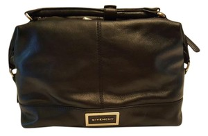 Givenchy New Leather Satchel in Black