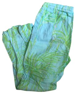 Lilly Pulitzer Relaxed Pants Blue, green