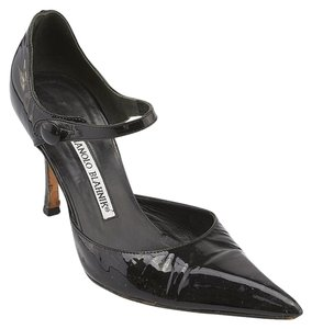 Manolo Blahnik Patent Leather Black Pumps