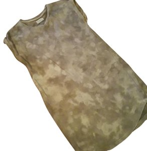 Lou & Grey short dress grey taupe cream Tunic & Tye-die on Tradesy