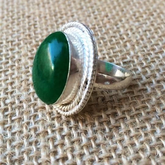Other Green Jade sterling silver ring