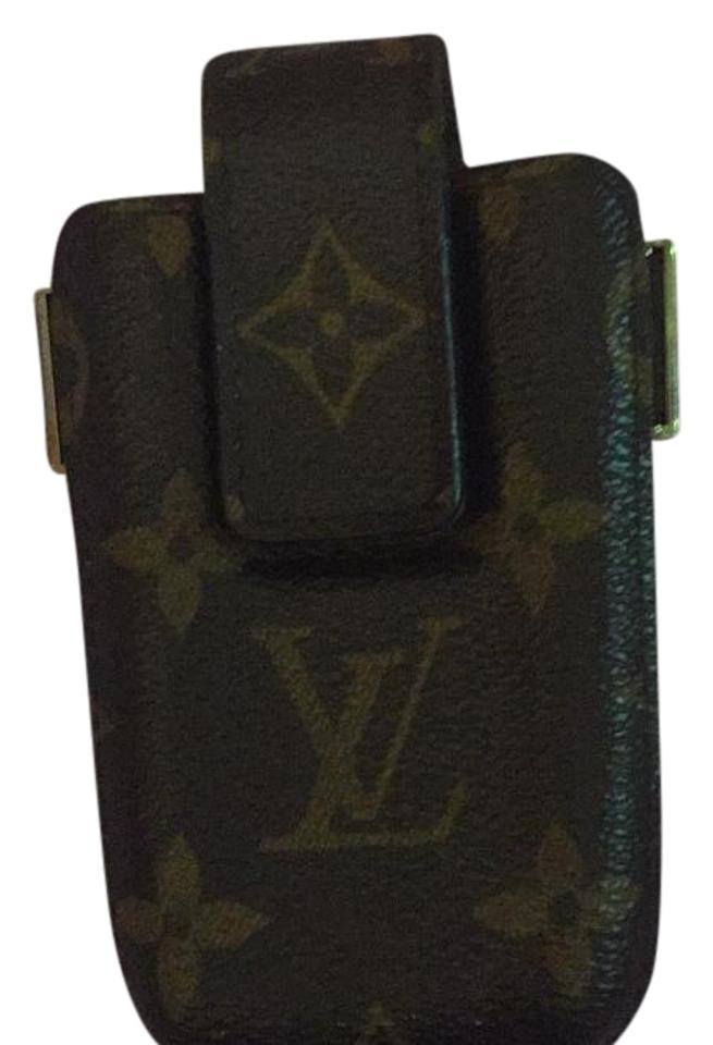 info for eb3ff b7936 Louis Vuitton Brown Monogram Phone Case Fits Iphone 4 and 4s Wallet 59% off  retail