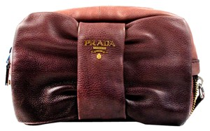 Prada Bow Ombre Gradient Pink Black Multi Clutch