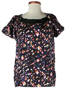 Maje Silk Print Top